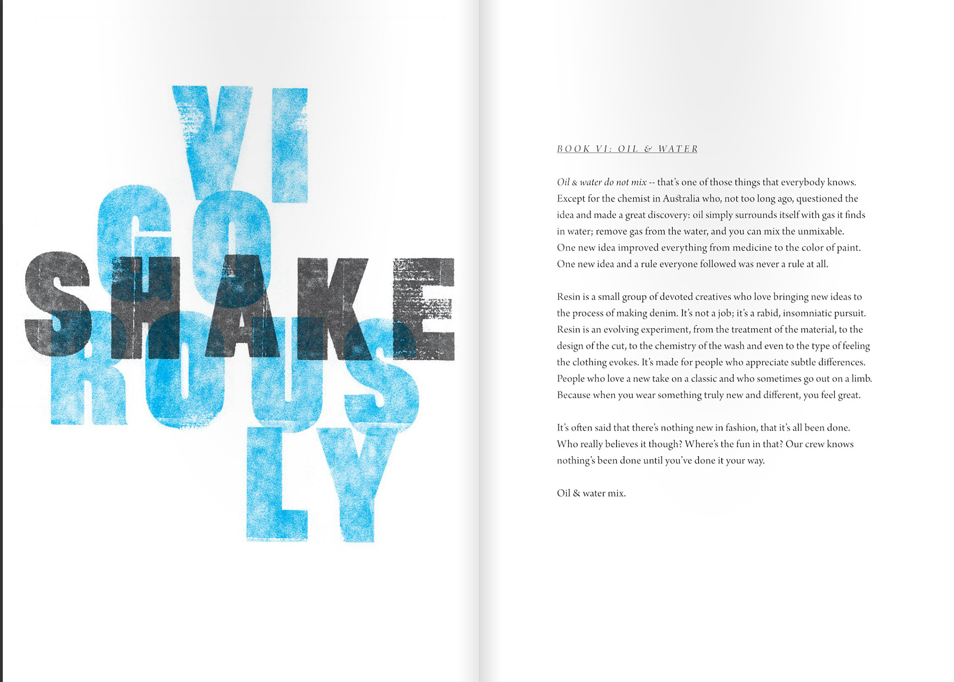 Resin Denim - Campaign Concept & Emotional Content