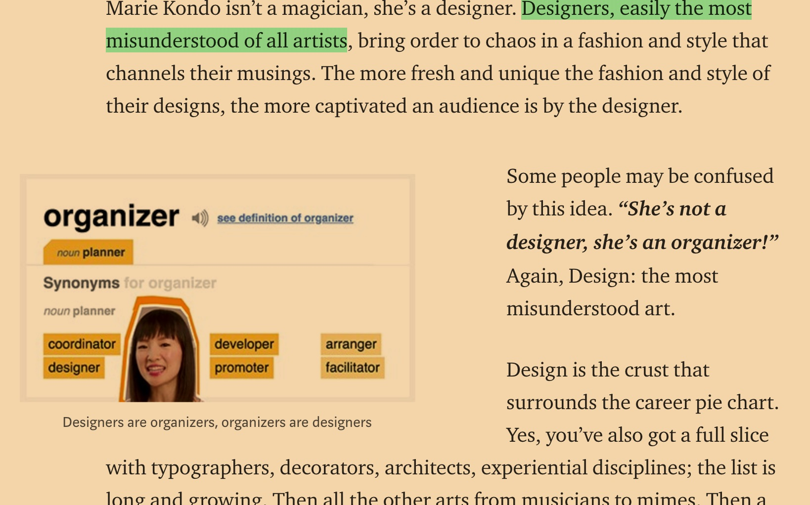 marie kondo we are all designers
