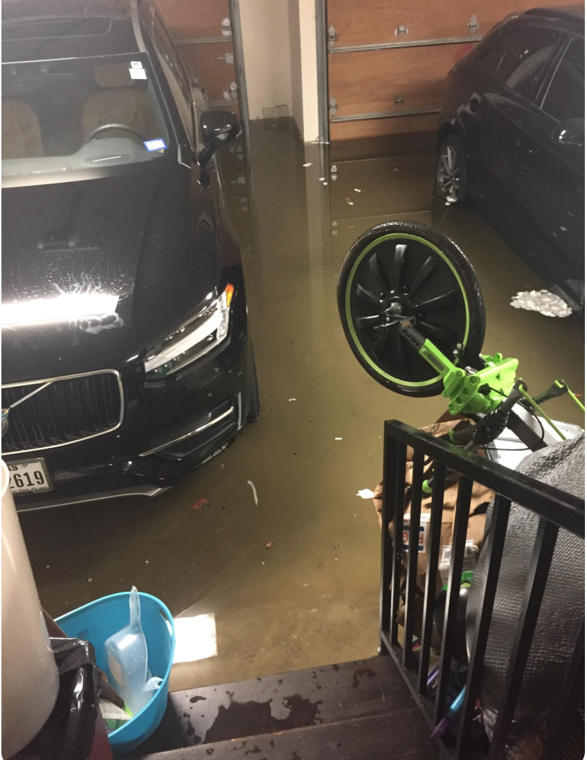 My garage and the water was still rising another foot.
