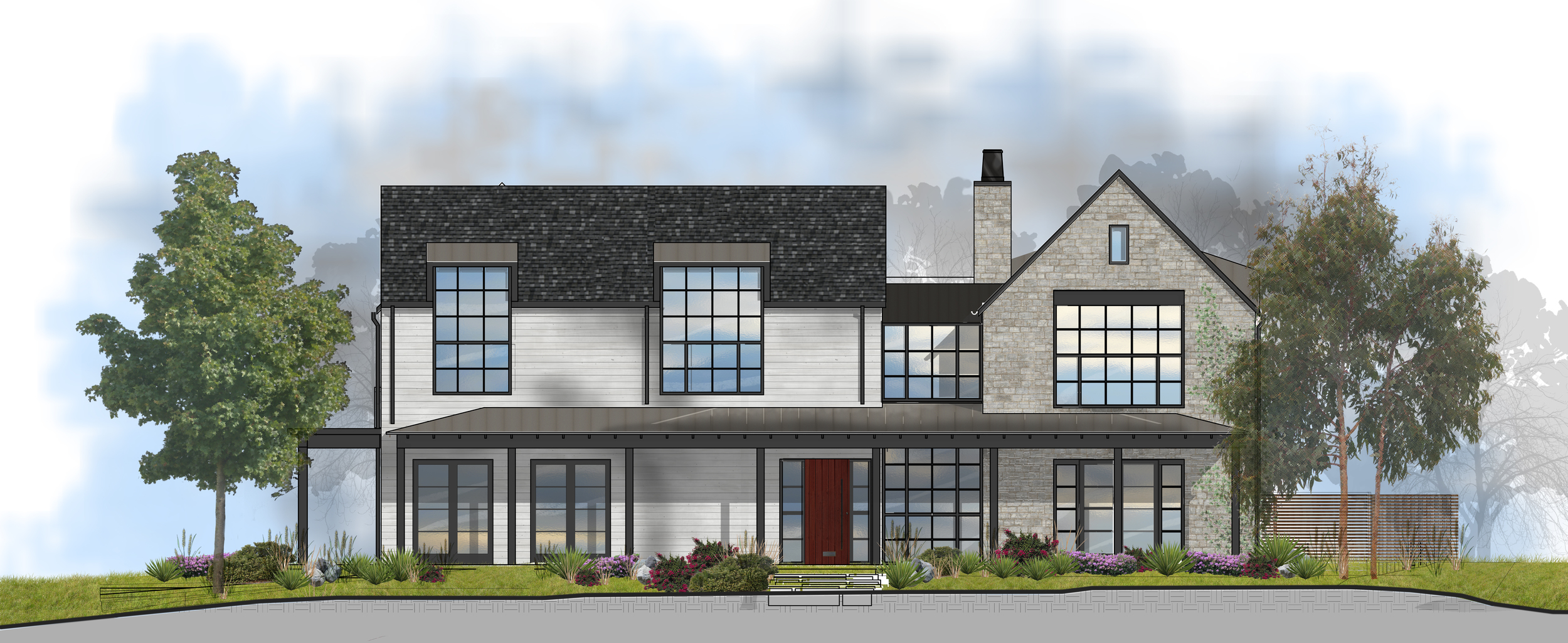 Rendering - East Elevation