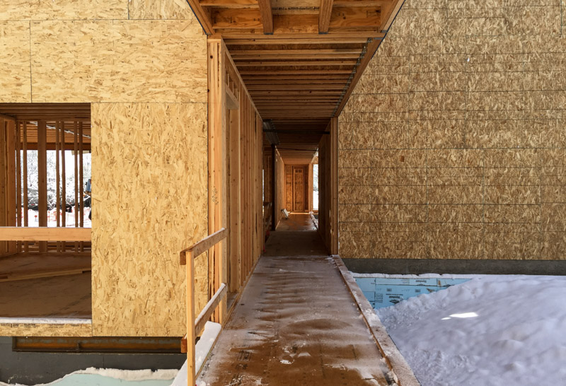 Entering the breezeway from the garage