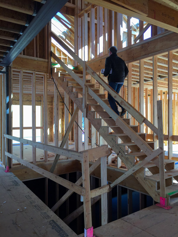 Future home of the steel and glass stair