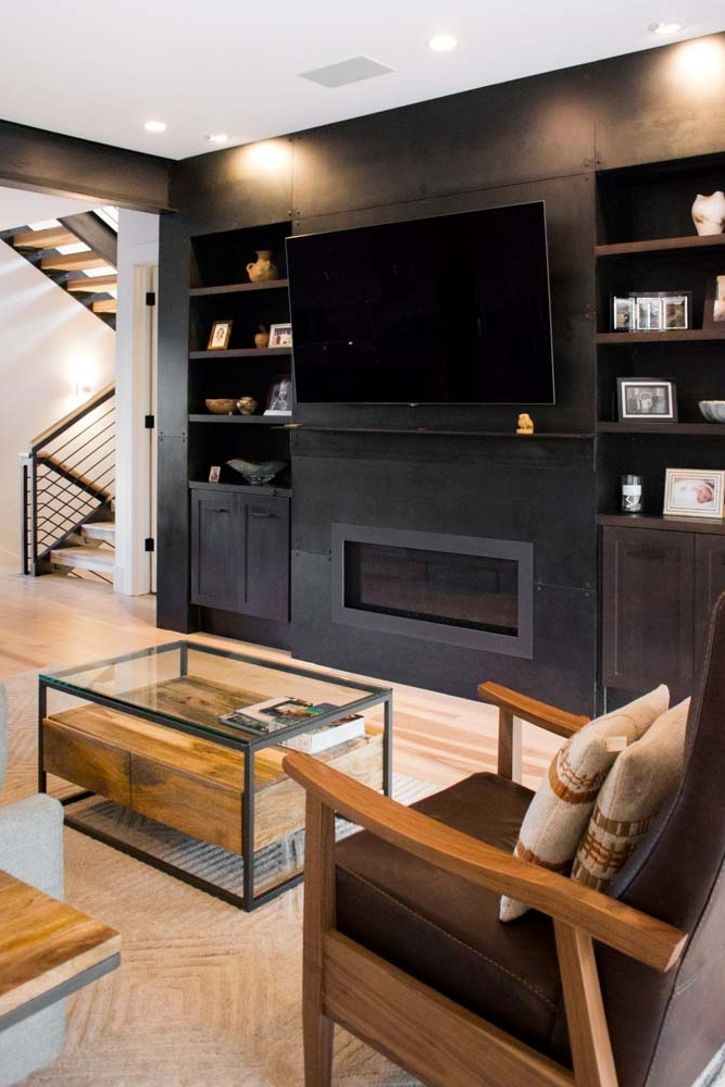 Surround Architecture - Bluebell Steel Fireplace