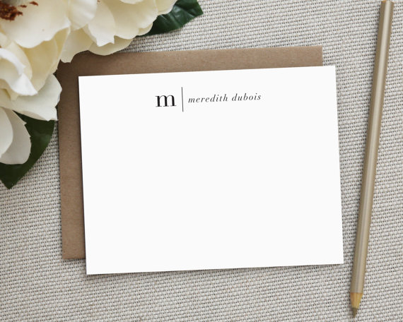 $22 - Personalized Stationary