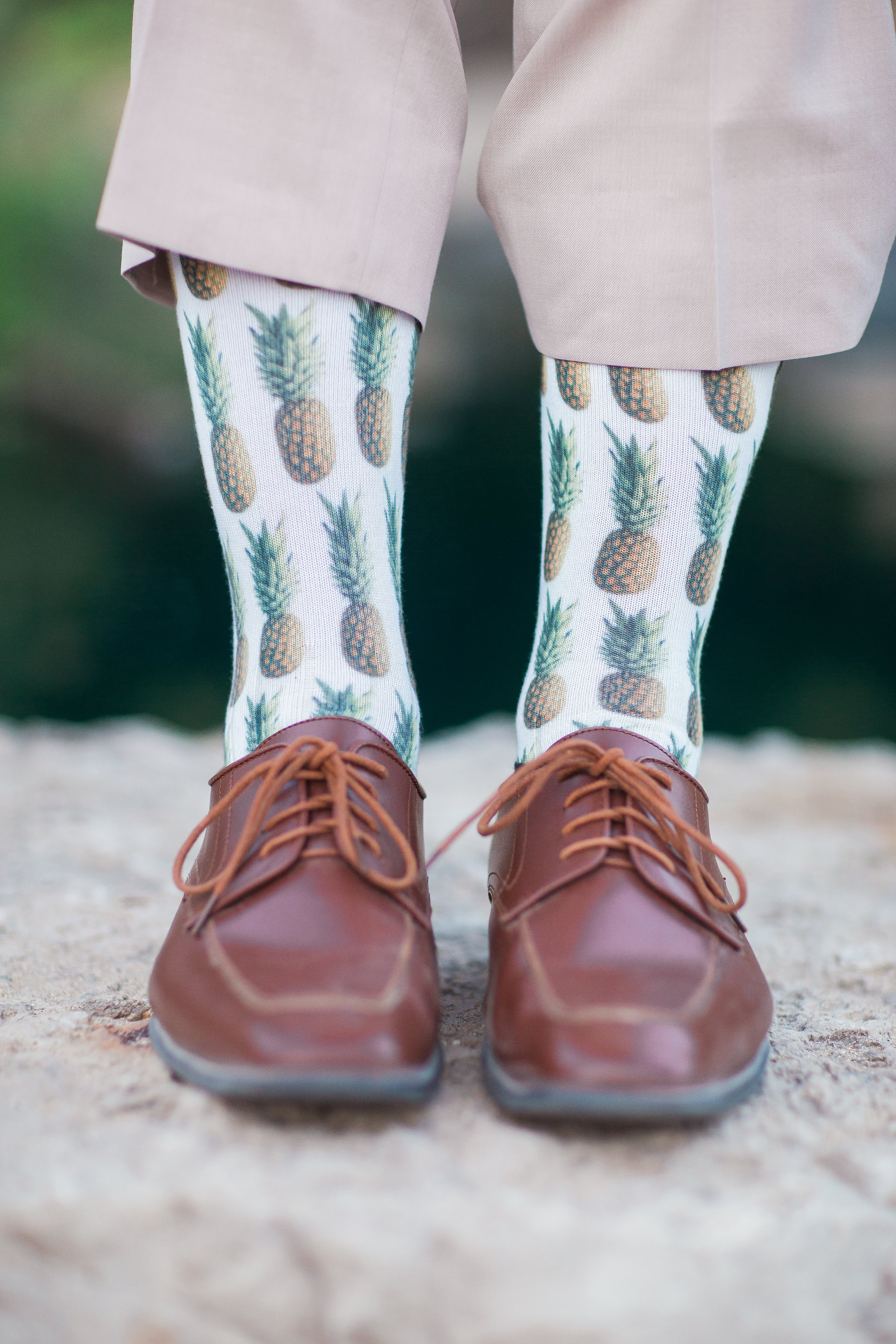 Groom's Pineapple Socks - Better Together Photography
