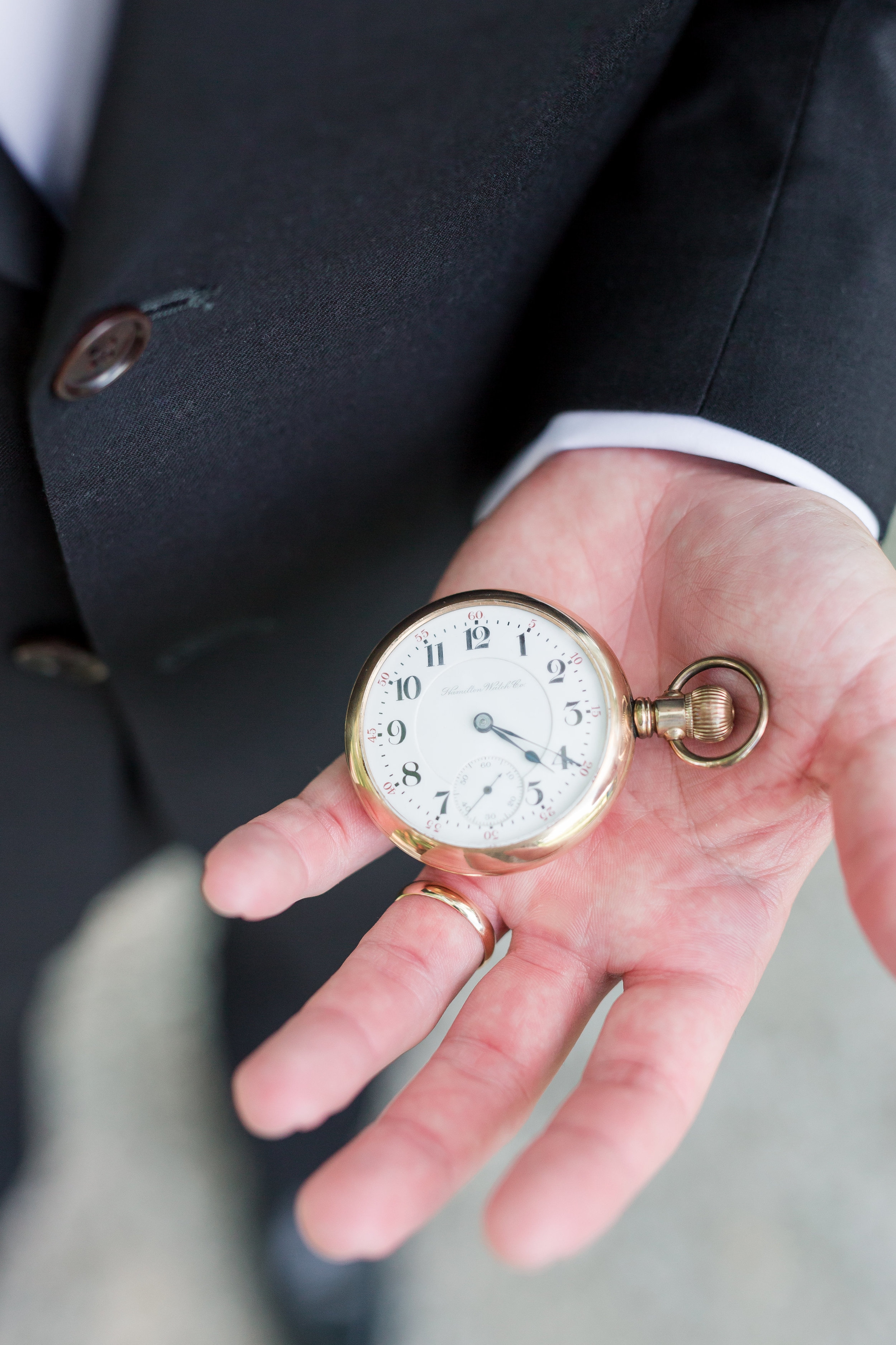 Groom's Pocket Watch - Maison Meredith Photography