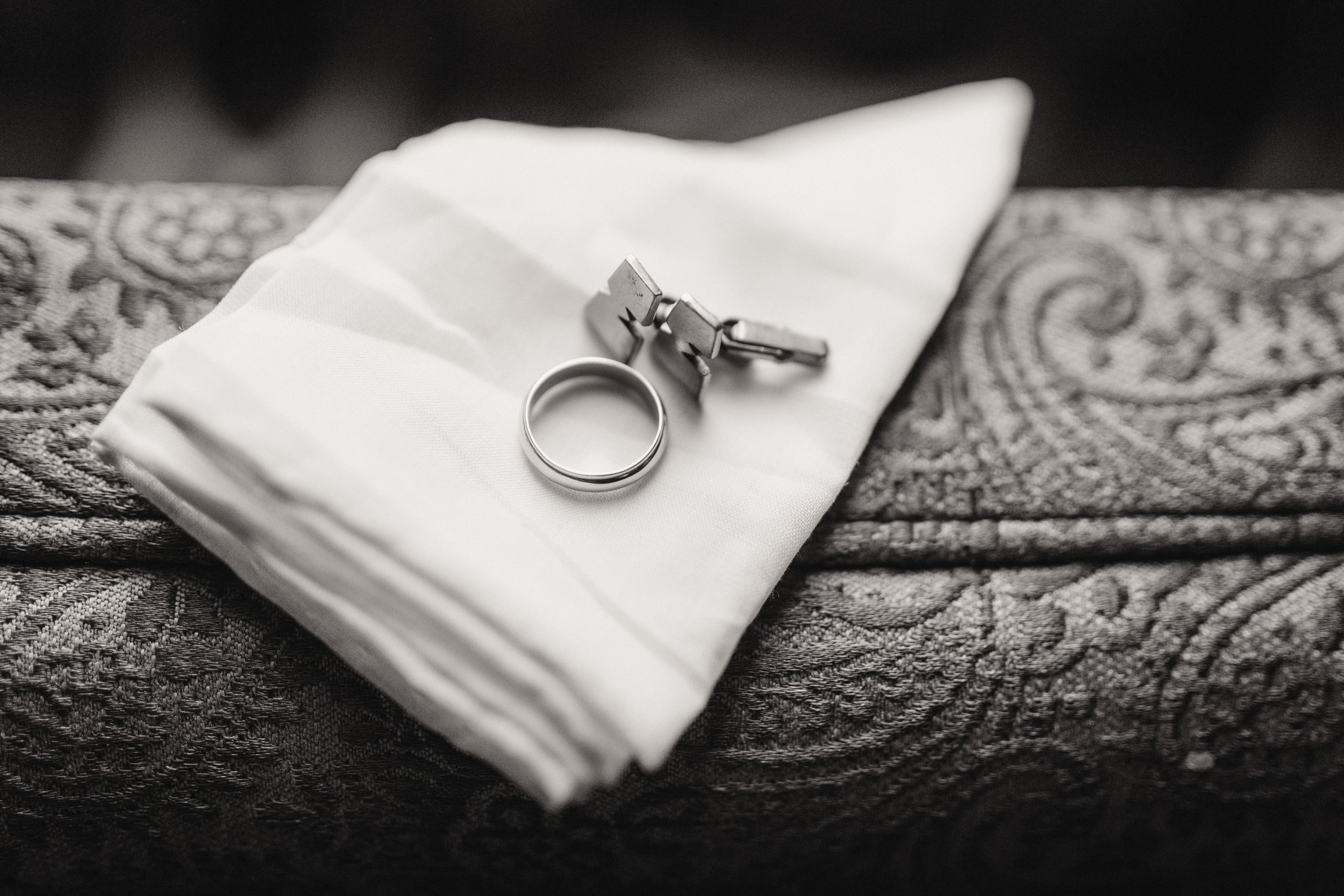 Wedding Band Cuff Links McNiel Photography
