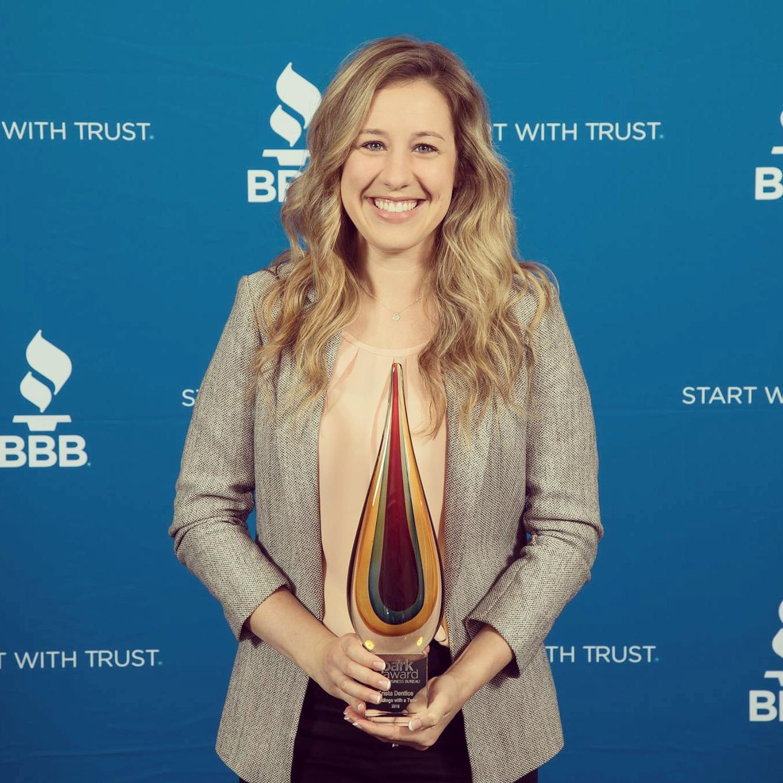 Featured in the  Better Business Bureau Spark Magazine  after receiving an award