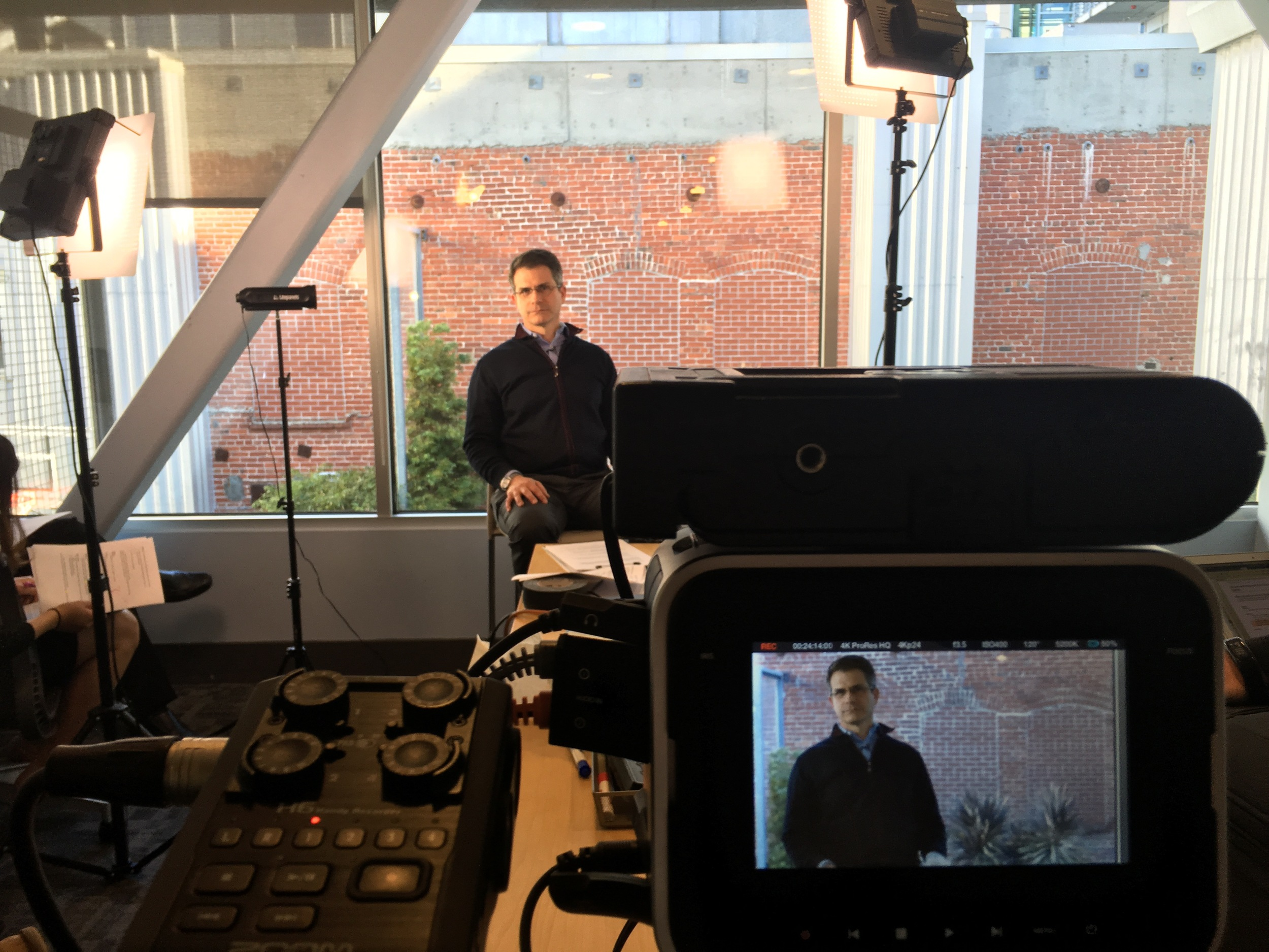 Our shoot in San Francisco in the Splunk HQ. Just minor evidence of our workload.