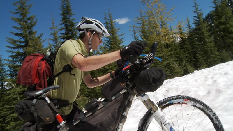 Mike Traversing Snow