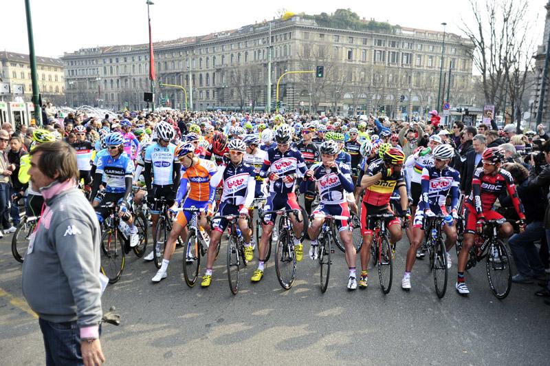 """""""Milano - Sanremo"""" start of the 2012 Milan San Remo"""