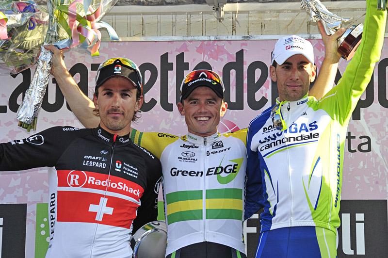 Cancellara, Gerrans and Nibali