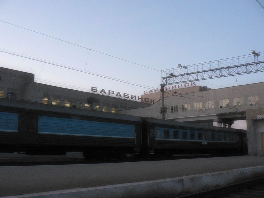 Waiting for a ride on the Trans Siberian Express