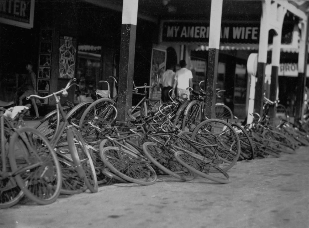 Bicycles stacked up in Australia Cairns