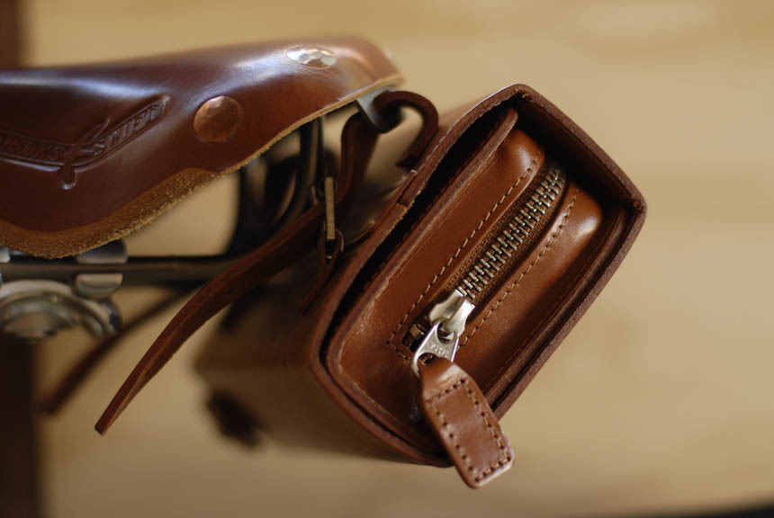 Brooks leather saddle bag