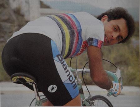 "Moreno Argentin won his world championship at Colorado in 1986 riding a Bianchi X4, branded as a ""Centenario""."