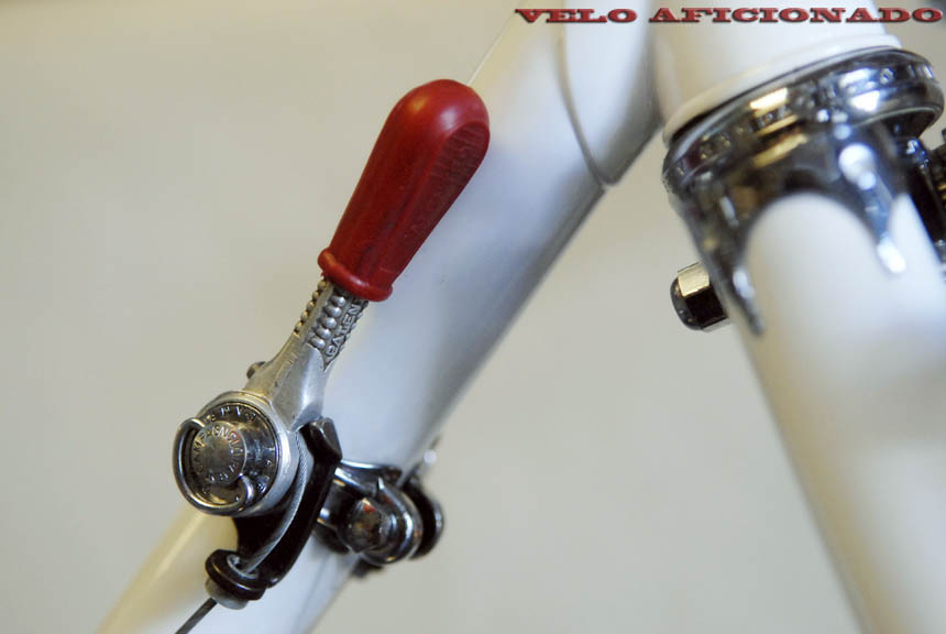 Red plastic covered Campagnolo Record friction shift lever