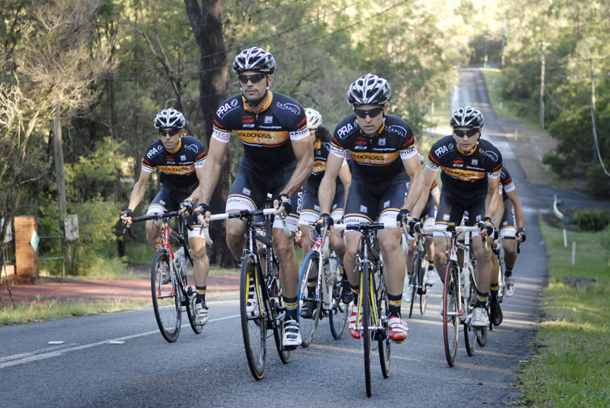 Rapida Vecchi masters cycling team out training
