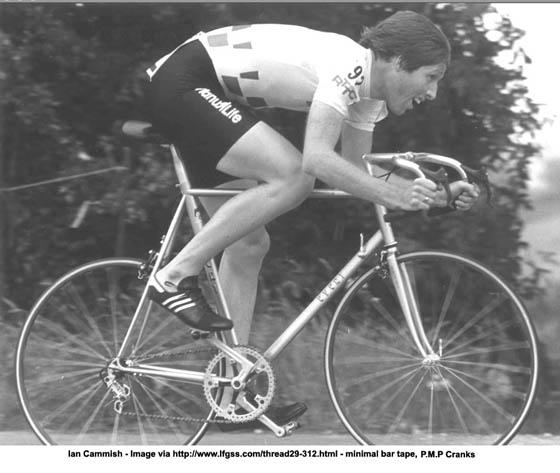 PMP Cranks on the TT bike raced by  Ian Cammish .