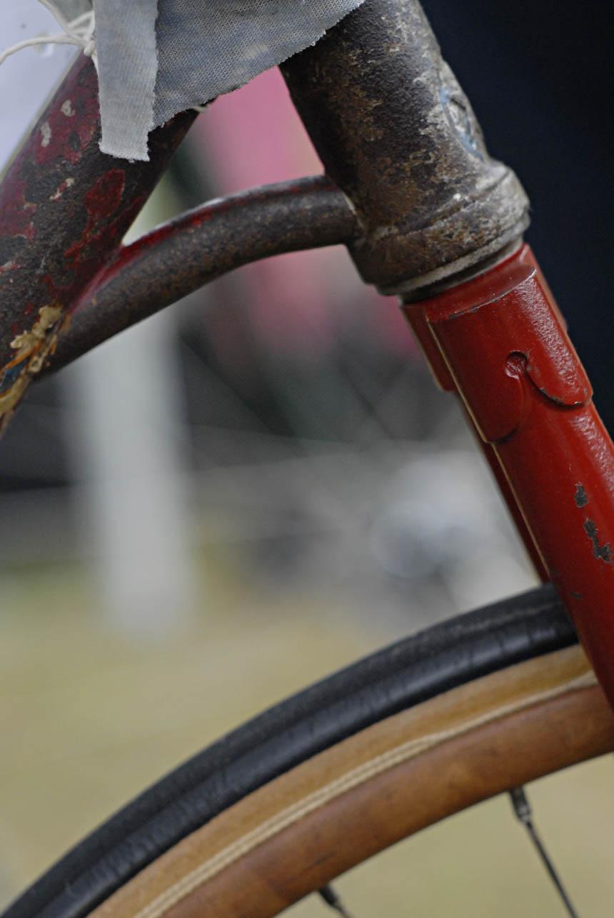 Wood rims on Hubert Opperman's pacer track bike