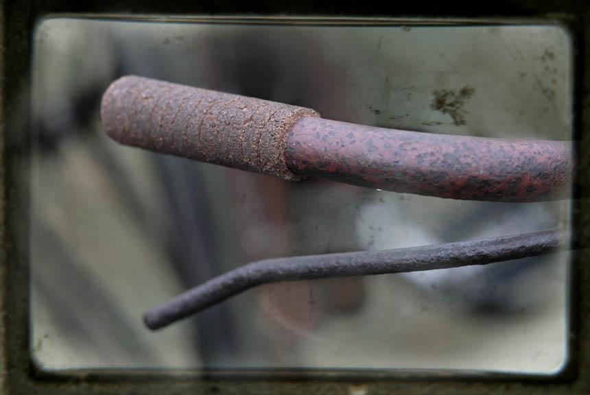 Old cork grips on Australian Army bike