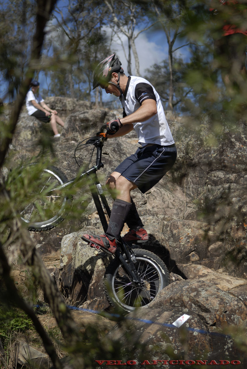 Down to the water's edge and back again at Rockatoo bike trials