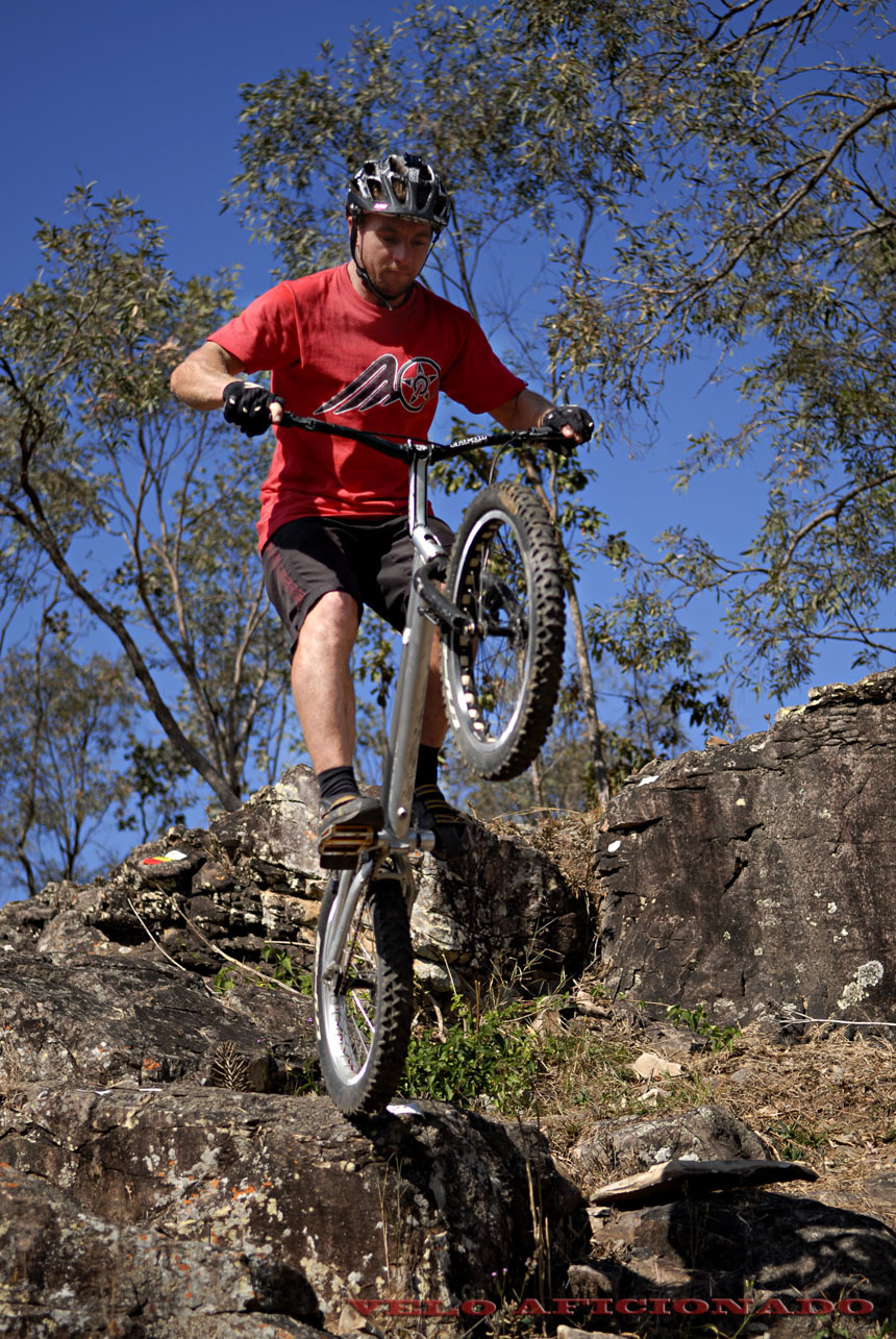 Rocky ledges and granite boulders, plenty of options to lay out a trials course