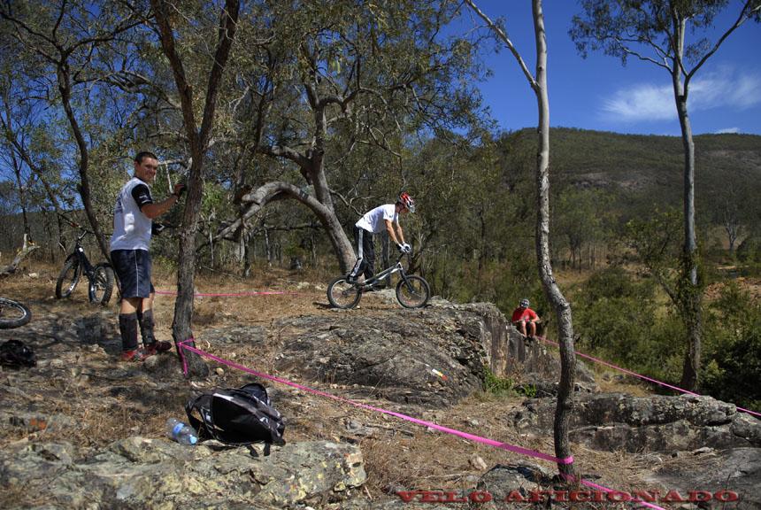 The Australian landscape provides a perfect backdrop for bike trials events