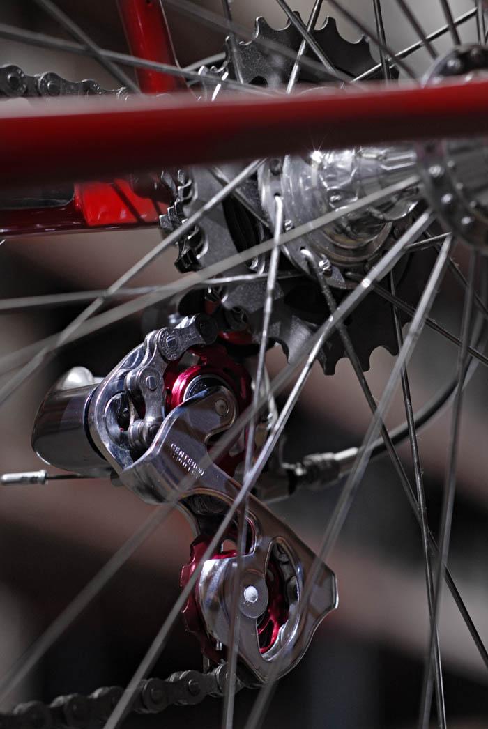 Shimano Dura Ace rear derailleur with after market pulley wheels