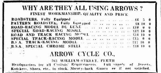 Arrow Cycle Company Perth