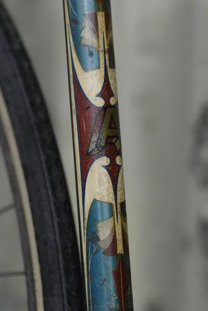 Paint detail on Kevin Fallon's Arrow Track Bike