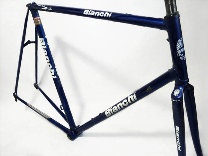 Bianchi X4 before we began re-painting and re-plating
