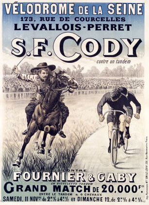 Man vs Horse S F Cody in a match race against Fournier and Gaby