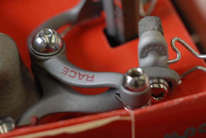 Modolo race brakes, boxed set, detail.