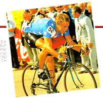 Greg Lemond winning the world championship road race at Altenrhien in 1983 using Modolo brakes.