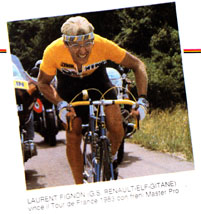 Laurent Fignon won the Tour de France in 1983 using Modolo Master Pro brakes.