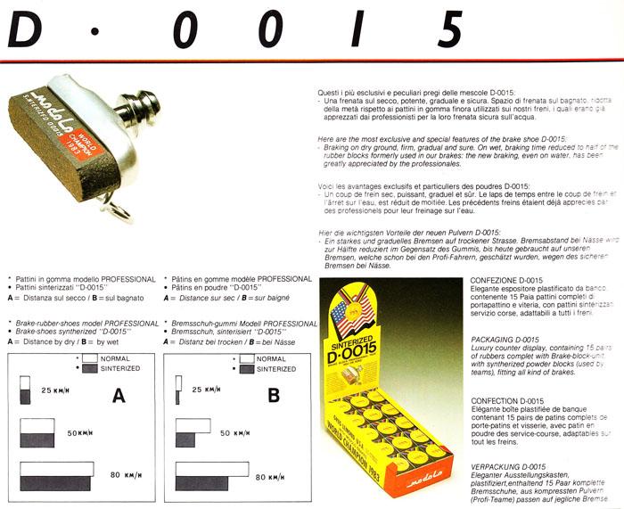 Modolo D 0015 Synterised Brake Blocks