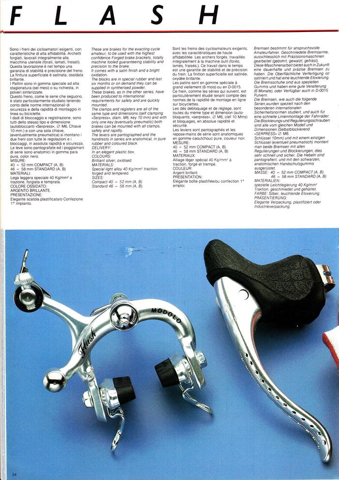 Modolo Flash brakes catalogue description