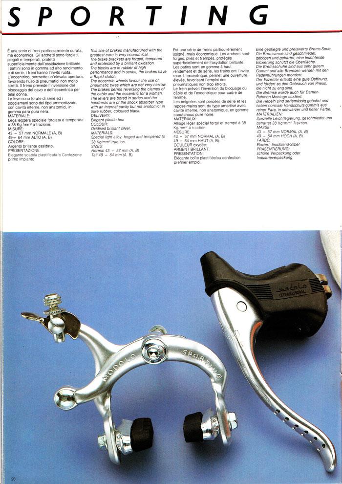 Modolo Sporting Brakes Catalogue Description
