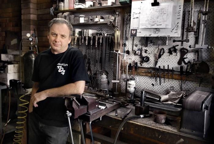 Darrell McCulloch proud creator of Llewellyn Custom Bicycles
