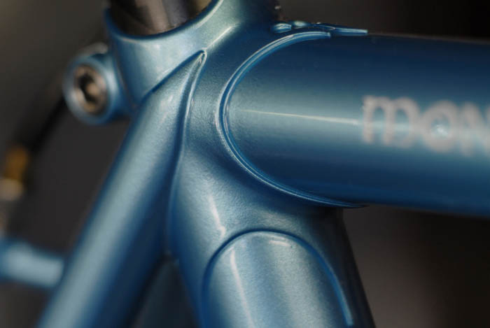 Bianchi inspired seat stay top eye attachment.
