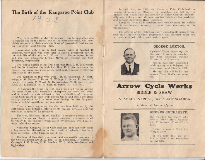 The birth of Kangaroo Point Cycling Club