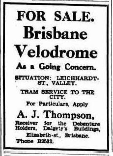 Brisbane Velodrome, For Sale.