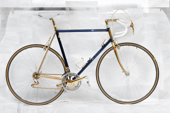 Ital Cicli Systems Zurich 1988 C-Record Gold Plated Bike