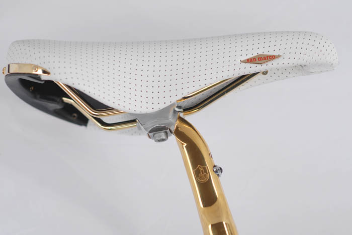 Selle San Marco White perforated Rolls saddle