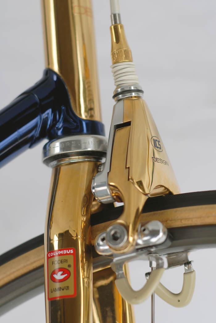 ICS Design Campagnolo C Record Delta brakes, gold plated.