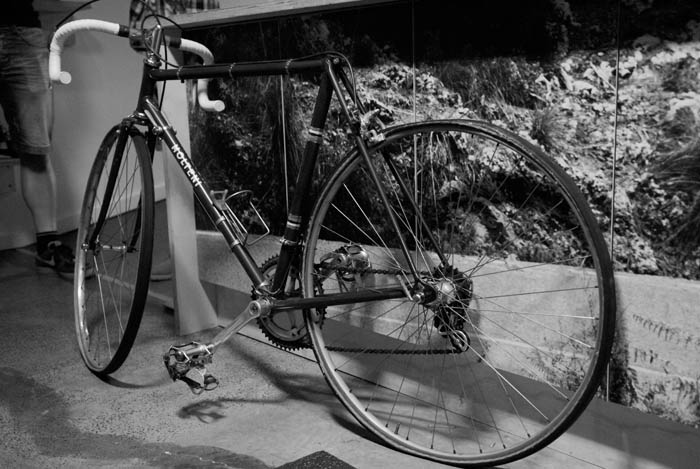 The Molteni 1968 team issue machine waits for it's seat post.