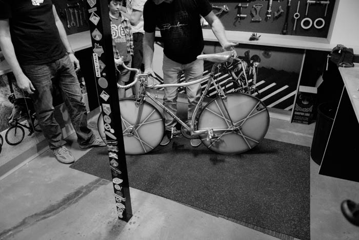 Benotto, everyone wanted to see this road time trial bike.