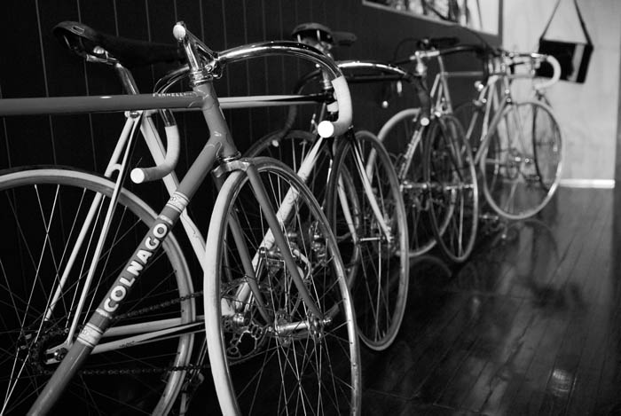 The Colnago pista lined up ready for Greg Softley's talk