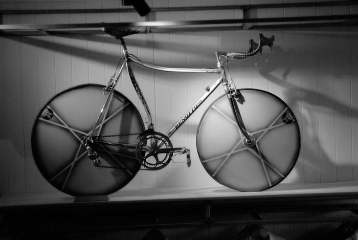 The Benotto time trial road bike, ready for action.